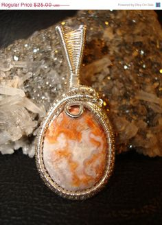 On Sale SALE Mexican Crazy Lace Pendant by superioragates on Etsy, $22.50