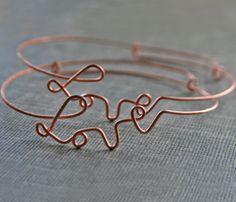 Love this! X-mas gift???   Wire Love Bracelet