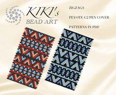 Pattern peyote pen cover Zigzags peyote pattern for pen wrap Wrap Pattern, Pattern Art, Peyote Patterns, Stitch Patterns, Weaving Patterns, Pilot G2 Pens, Peyote Beading, Arte Popular, Peyote Stitch