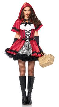 Adult Gothic Red Costume - Little Red Riding Hood