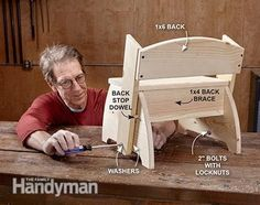 Flip Flop Step Stool: The versatile flip-flop stool just might become a permanent fixture in your bathroom, especially if you have kids. Read more: http://www.familyhandyman.com/woodworking/projects/flip-flop-step-stool/view-all