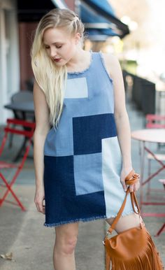 re:named - Dress - Very Brady Patchwork Dress - Cheeky Peach Boutique - 1