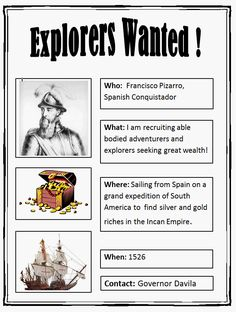 Explorers Wanted Poster - Lesson Plan | K-5 Computer Lab