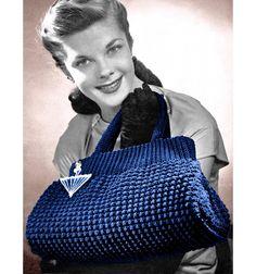 Vintage Crochet Pattern 1940s Crocheted Doctor by 2ndlookvintage