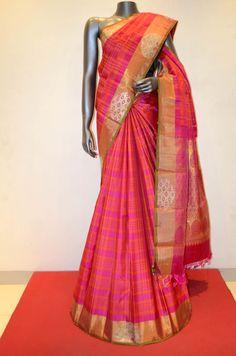 Peach Designer Kanjeevaram Silk Saree Product Code: AB203858 Online Shopping: http://www.janardhanasilk.com/Saree-Collections/Kanjeevaram-Silk-Saree/Peach-Designer-Kanjeevaram-Silk-Saree?limit=25
