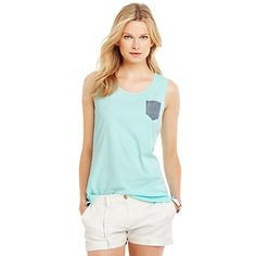 Patched Pocket Tank from Tommy Hilfiger || Get 7% cash back & 30% off sale items - http://www.studentrate.com/bu/get-bu-student-deals/Tommy-Hilfiger-Discounts-and-Coupons--/0