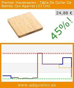 Premier Housewares - Tabla De Cortar De Bambú Con Agarres (33 Cm) (Cocina). Baja 45%! Precio actual 24,88 €, el precio anterior fue de 45,57 €. http://www.adquisitio.es/premier-housewares/tabla-cortar-bamb%C3%BA