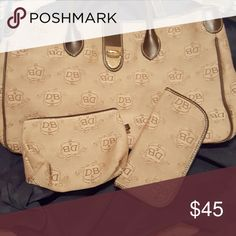 Dooney and Bourke Light brown  tote with accessory  bag and eyeglass case dooney and Bourke  Bags Totes