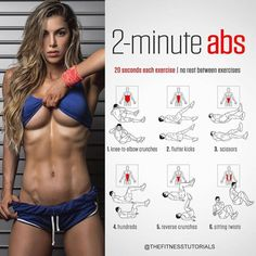 2 minute abs workout! Will you do it? 💪🏻 ���