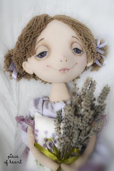 Lavender Dreams  textile doll  www.livemaster.ru/item/503623-kukly-igrushki-lavandovye-sny