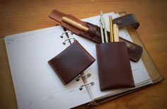 Leather Pen Case. Handmade. Original desing Ludena.