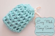 The last pattern in my Spa Day series is now up! Get the free pattern for this Easy Mesh Soap Saver.