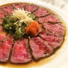 How about a little #Wagyu on Wednesday? #Kobe #beef #tataki #gradea5 #nobu #nyc by nobunewyork