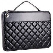 Chanel Quilted Leather Laptop Sleeve Black   $213