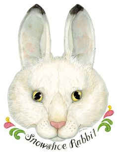 The rabbit from the Mitten printable mask for story telling and acting out the story