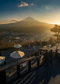 Mt. Fuji in the distance
