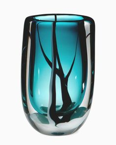 Vicke Lindstrand; Glass Vase for Kosta, 1950s.