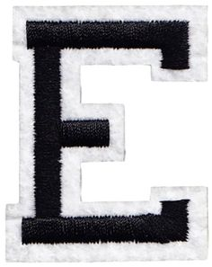 quot white alphabet letter iron on patch applique joyce single count custom and unique 2 quot inches american 2