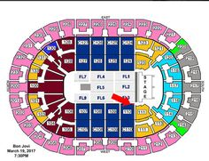 #Tickets 2 Bon Jovi Tickets FRONT ROW Section 110 Aisle w/ Parking Pass! Cleveland 3/17 #Tickets