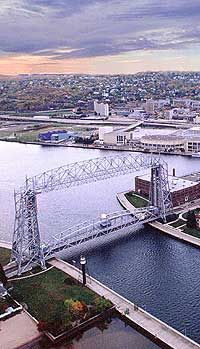 Duluth MN - Aerial Lift Bridge to Superior, WI....