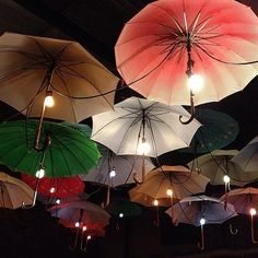 Is there anything more whimsical than umbrella lights? This is a special touch whether for a backyard shindig or a more formal wedding.
