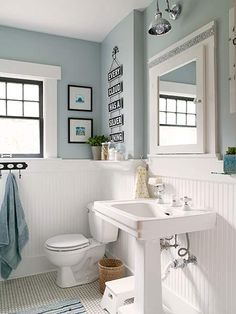 Image result for white wainscoting bathroom