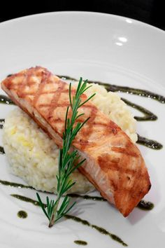 salmon on lemon risotto in Brazil! @L.A. Times Food
