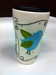 Tweet bird travel mug