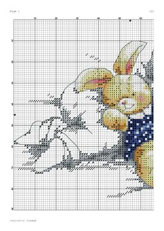 Cross Stitch.Спящий малыш с зайкой 2 Winne The Pooh, Cross Stitch Baby, Rabbits, Cross Stitching, Needlework, Projects To Try, Embroidery, Crochet, Pattern