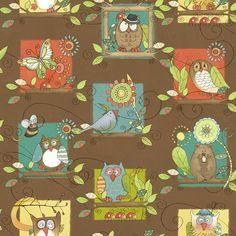 Treehuggers by Studio E Fabrics by NicoleAnnesFabrics on Etsy, $9.30