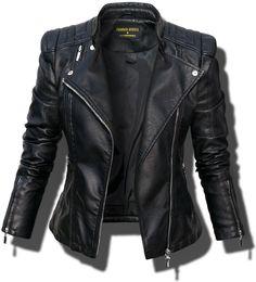 Kurtka Damska Ramoneska Moto - Lilly is Love Cool Outfits, Casual Outfits, Fashion Outfits, Womens Fashion, Blazer Outfit, Diy Mode, Leather Jacket Outfits, Womens Black Leather Jacket, Jackett