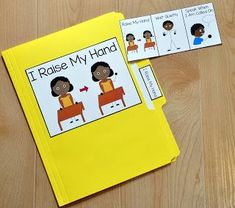 Free Folder Stories! One page social stories that are assembled neatly into a file folder.