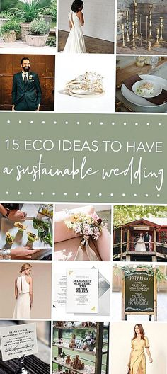 Looking to have a sustainable wedding You HAVE to click to see our list of ideas to make your celebration earthfriendly its easier than you think Green Wedding, Boho Wedding, Wedding Colors, Wedding Day, Glamorous Wedding, Burgundy Wedding, Romantic Weddings, Trendy Wedding, Wedding Anniversary