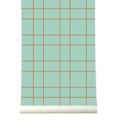 Roomblush behang wallpaper grid pastelgreen behangpapier woonkamer slaapkamer interieur design muurdecoratie