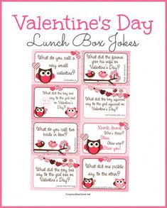 Free Printable Valentine's Day Lunch Box Jokes