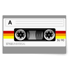 retro cassette tape labels - Google Search