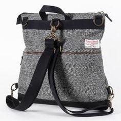 RAMBLER RUCKSACK 4WAY - Catherine Aitken Harris Tweed, Cool Backpacks, Waxed Canvas, New Bag, Briefcase, Herringbone, Messenger Bag, Satchel, Shoulder Bag
