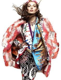 patterns ~ carola remer | greg kadel  #photography | german vogue jan 2012