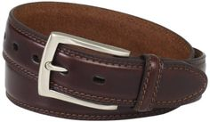 Feather edge belt with double row stitch and stretch feature with brushed nickel finished http://howtogetnewmoney.com/DockersBelt