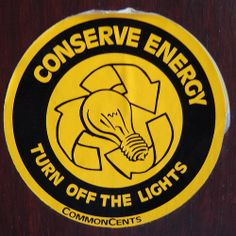 Ways to Conserve Energy...