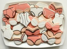 Lingerie Cookie Platter...♥ cute for bachelorette party or lingerie party ♥ http://www.sweetsugarbelle.com/