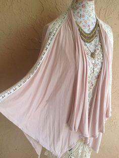 Dusty Rose blush pink Romantic gypsy kimono sleeve by BohoAngels, $60.00