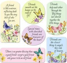 Butterfly Magnets: Friendship verses adorn beautiful nature scenes of butterflies and florals. A perfect reminder for your own refrigerator, to give as a g Verses About Friendship, Happy Friendship Day, Friendship Day Quotes, Friend Friendship, Friendship Pictures, People Change Quotes, Indira Gandhi, Servant Leadership, Leader In Me