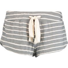 Eberjey Striped jersey pajama shorts (1.795 RUB) ❤ liked on Polyvore featuring intimates, sleepwear, pajamas, gray green, green jersey, eberjey sleepwear, striped pajamas, striped jersey and eberjey pajamas