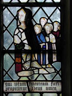 Eleanor Ashfield with daughters, old Church St Nicholas, Heythrop