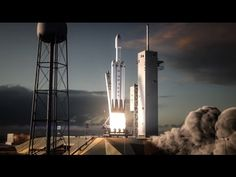Animation showing the blast off of SpaceX's Falcon Heavy. The latter half of the new animation offers another vision of a rocket boosters being returned safely to floating landing pads. In other words, the new video is bookended by two of the most vital features of SpaceX's future business plans.