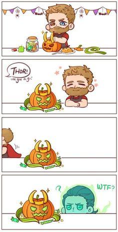 Aww ghost Loki and little Thor ! Avengers Humor, Avengers Comics, Baby Avengers, Funny Marvel Memes, Marvel Jokes, Baby Loki, Thor X Loki, Loki Marvel, Marvel Art