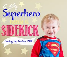 Second Pregnancy Announcement | From: sweetpeaskitchen.com Superhero Birthday Party, 2nd Birthday, Birthday Parties, Second Pregnancy Announcements, Diy Cape, Cupcake Cakes, Cupcakes, Layer Cake Recipes, Funfetti Cake