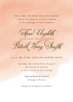 Wedding Watercolor invite