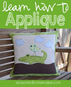 Applique is easier than you think. I have a quick tutorial that teaches you the basics.